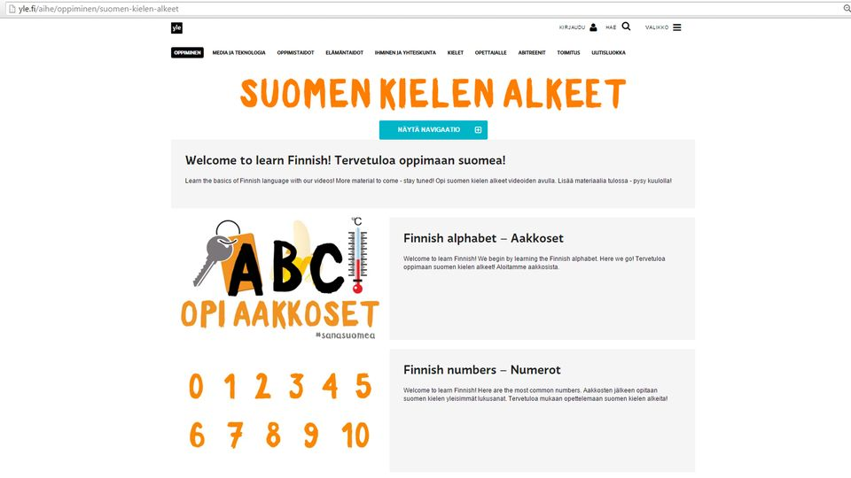 suomen kielen alkeet Jamsa