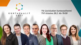Yle Uutisluokan vaalitentin osallistujat.