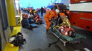 Video: Meriluoto-lautan meripelastusharjoitukseen osallistui sata ihmistä.