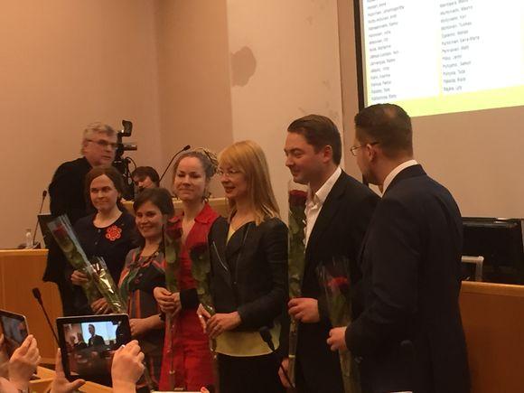 Oulun valtuustossa olevat kauden 2015-2019 kansanedustajat