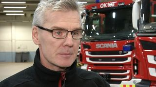 Palomestari Hannu Timonen Oulu-Koillismaan pelastuslaitokselta.
