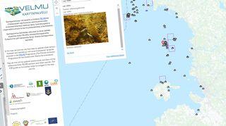 Velmu karttapalvelu netissä.
