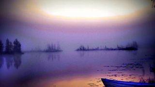 Kyrkösjärvi aamulla 1. lokakuuta.