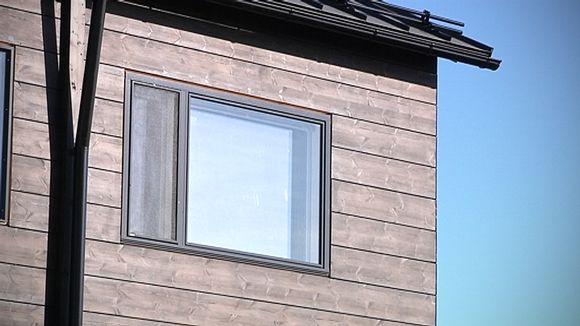 Seinäjoen asumessujen rakenteilla oleva hirsitalo.