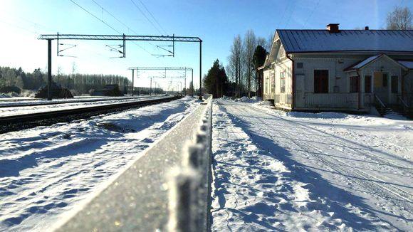 Härmän rautatieasema Kauhavalla.