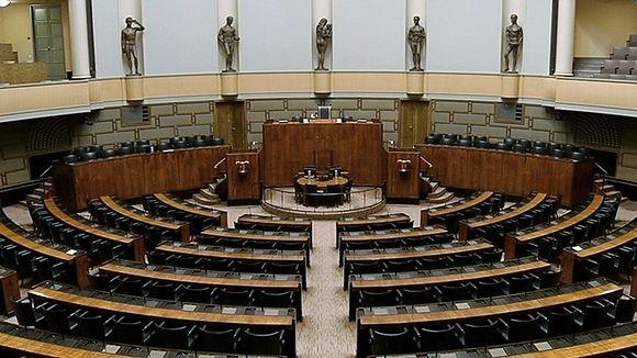 Eduskunnan istuntosali.