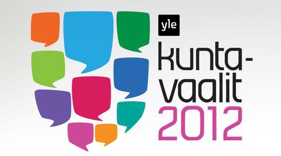 Kuntavaalit 2012 -grafiikka.