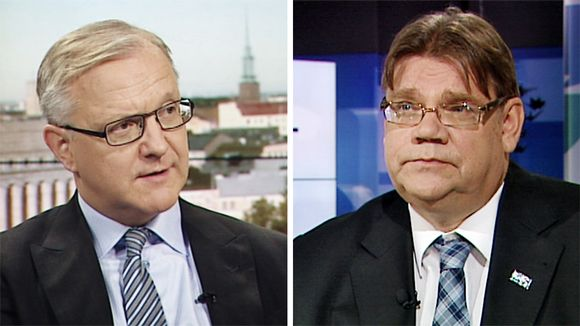 Olli Rehn ja Timo Soini.