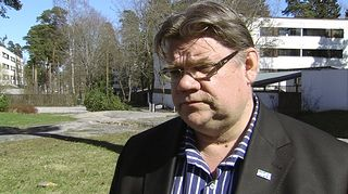 Perussuomalaisten puheenjohtaja Timo Soini.