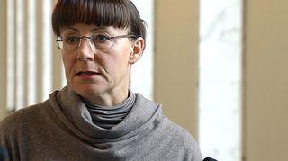 Perussuomalaisten eduskuntaryhmän puheenjohtaja Pirkko Ruohonen-Lerner.
