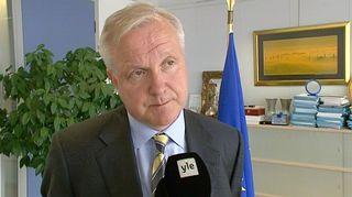 Euroopan unionin komission varapuheenjohtaja ja talouskomissaari Olli Rehn.