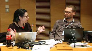 Saksalainen Rebecca Liebermann ja ranskalainen Hugues Honoré
