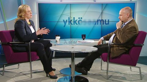 Jutta Urpilainen (SDP) Ykkösaamun vieraan 23. toukokuuta.