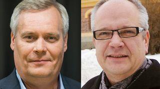 Antti Rinne (sd.) ja Kaj Turunen (ps.)