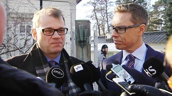 Video: Juha Sipilä ja Alexander Stubb.