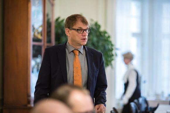 Juha Sipilä Kesärannassa 1. syyskuuta 2016.