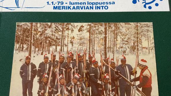 hiihtäjiä Merikarvialla vuonna 1979