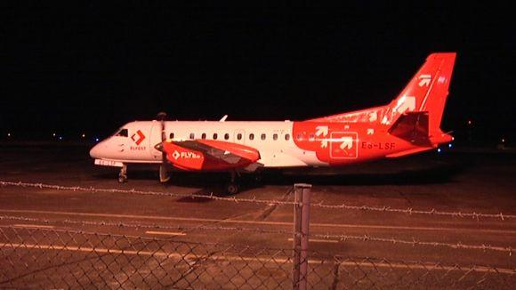 Airestin kone Porin lentokentällä.