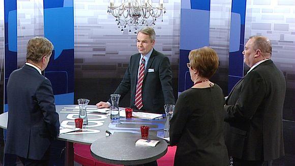 Sauli Niinistö ja Pekka Haavisto Ylen vaaliväittelyssä.
