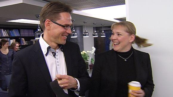 Video: Jyrki Katainen ja Taru Tujunen.