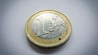 Euron kolikko.