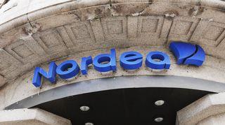 Nordea-pankin sisäänkäynti Helsingissä. Valokuva on syyskuulta 2013.