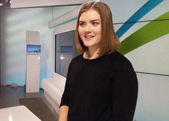Lukiolaisten talousguru-kilpailun voittaja Maija Löyskä.