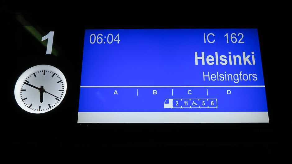 Helsingin junan lähtöaikataulu