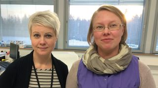Nokian kaupungin terveydenhoitajat Anne Tuuri ja Niina Autio.