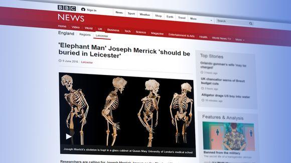 Kuvakaappaus BBC:n sivu