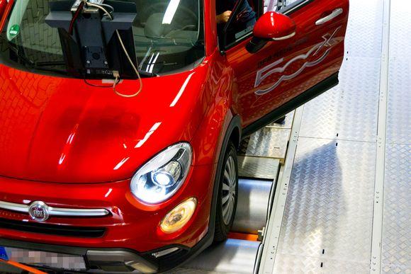 Fiat pakokaasutestissa