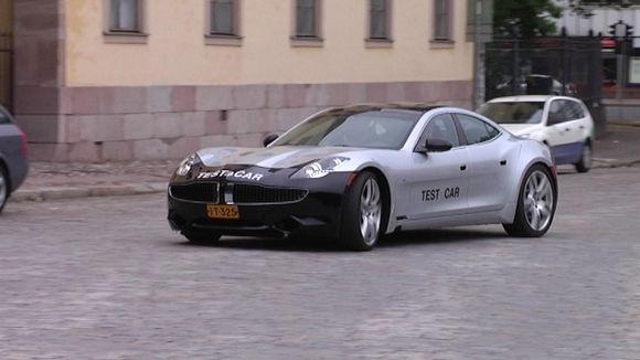 Suomessa tehty Fisker Karman testiauto.