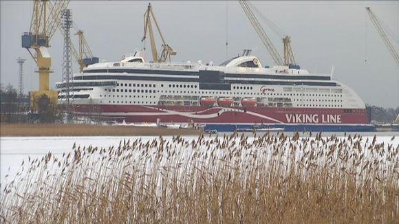 Viking Grace -alusta rakennetaan STX:n Turun telakalla.