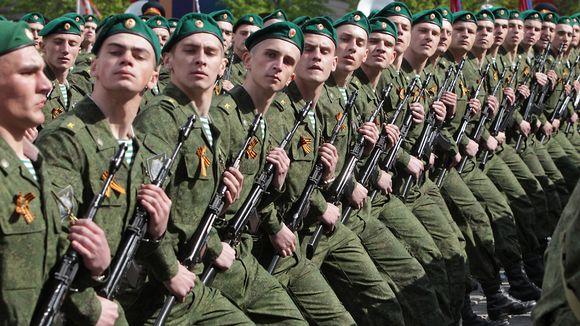 Sotilaita marssimassa.