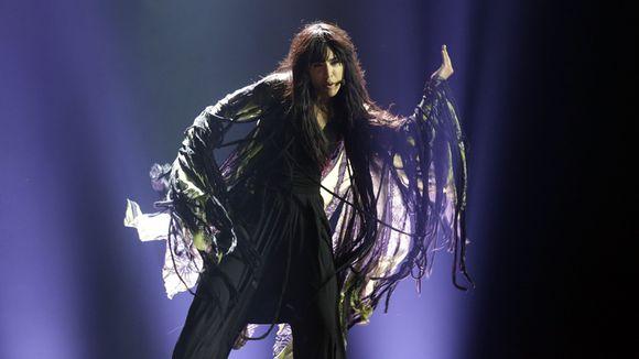 Ruotsin Loreen esiintyy Euroviisujen harjoituksissa Azerbaidzhanissa.