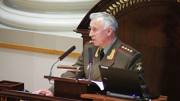 Video: Venäjän asevoimien päällikkö kenraali Nikolai Makarov esitelmöimässä Helsingin yliopistossa.