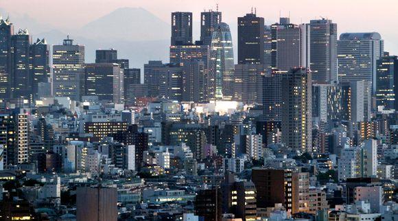 Pilvenpiirtäjiä Tokiossa.