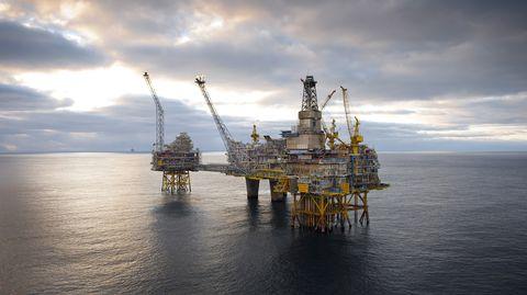 Osebergin öljykenttä Pohjanmerellä, Norjan rannikolla.