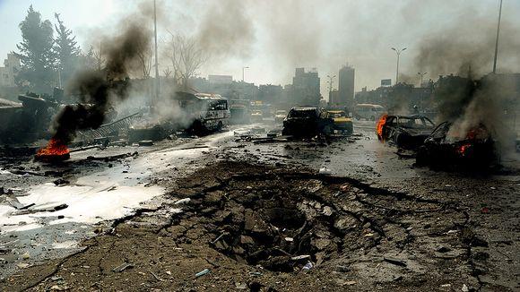 Voimakkaan räjähdyksen aiheuttamia tuhoja.