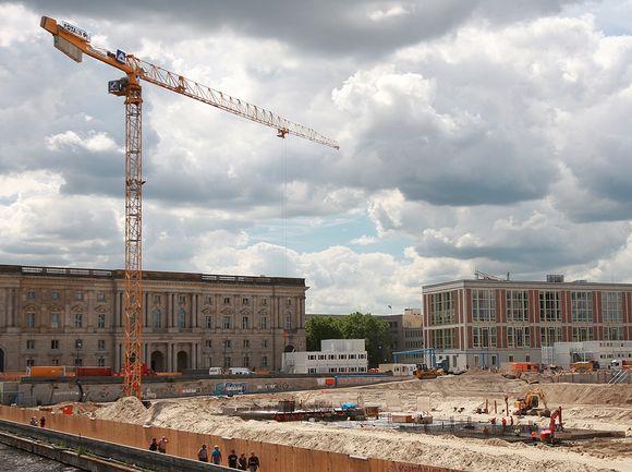 Video: Berliinin linnan rakennuspaikka.