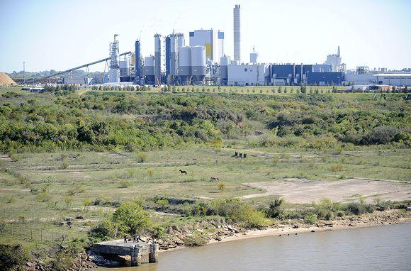 UPM:n Fray Bentosin sellutehdas kuvattuna 6. lokakuuta.