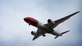 Norwegianin lentokone ilmassa.