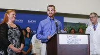 Ebolasta selviytynyt Kent Brantly puhui tiedotustilaisuudessa Atlantassa, Georgiassa, 21. elokuuta.