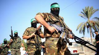 Al Qassam -sotilaita valokuvattuna Gazassa syyskuussa 2013.