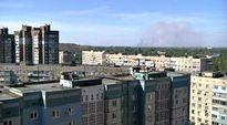 Video: Ammustehtaan räjähdyksen nostattama savupilvi näkyy Donetskin kaupungin laitamilla.