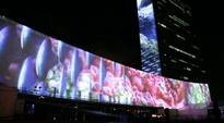 Video: YK:n ilmastokokouksen projisointi.