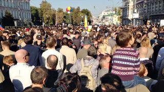 Video: Mielenosoittajia Moskovassa.