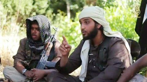 Kuvankaappaus ISISin videolta, jolla he rekrytoivat uusia jäseniä. Video on julkaistu 19. syyskuuta.