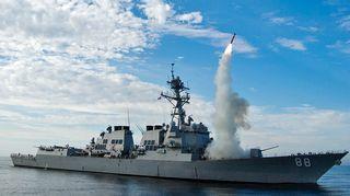 USS Preblestä on laukaistu Tomahawk ohjus.