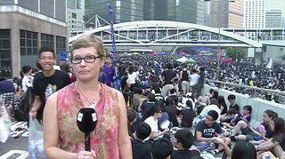 Video: Yle Uutisten Kiinan kirjeenvaihtaja Sari Taussi Hongkongissa.